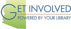 Logo for Volunteer Match that says Get Involved! Powered by You.