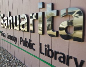 sign at Sahuarita Public Library