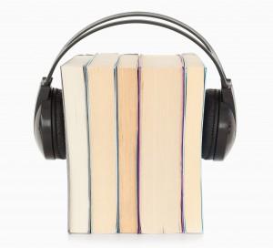 Books with headphones - audiobooks