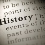 Close up of definition of history in a dictionary