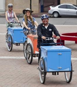 Library Bookbike fleet of three bikes