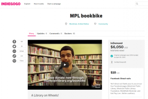 Indiegogo campaign for the Montclair, NJ Public Library Bookbike