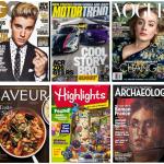 Six magazine covers