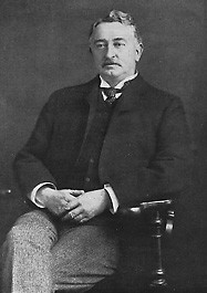 black and white photograph of Cecil Rhodes