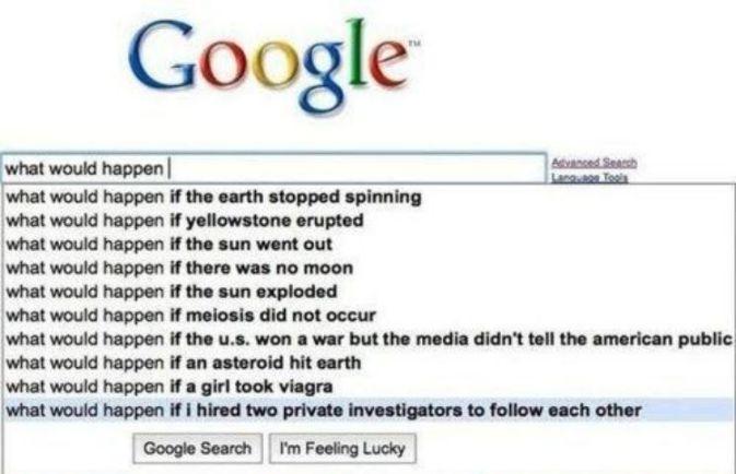 screenshot of entering a question into google