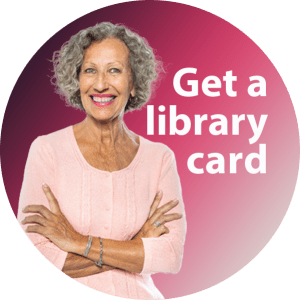 600x600 round icon Get a Library Card Older Woman